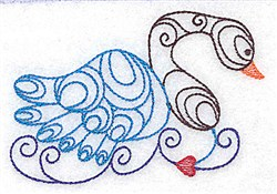Swan Outline embroidery design