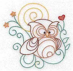Owl Outline embroidery design