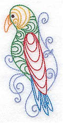 Parrot Outline embroidery design
