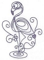 Bluework Flamingo embroidery design