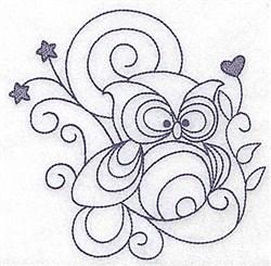 Owl Bluework embroidery design
