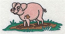 Cute Pig embroidery design