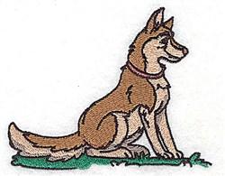 Farm Dog embroidery design