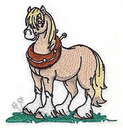 Ready To Ride Horse embroidery design