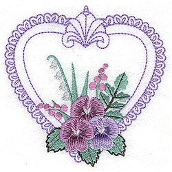 Lacy Heart embroidery design