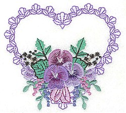 Flowers In Heart embroidery design