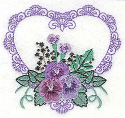 Elegant Heart embroidery design