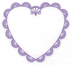 Scalloped Heart embroidery design