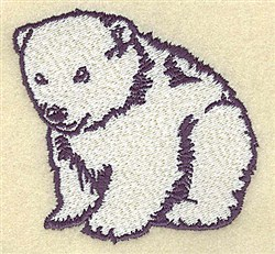 Polar Bear Cub embroidery design