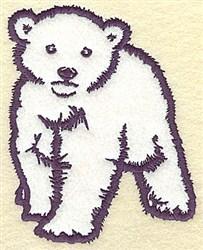 Polar Bear Cub  Applique embroidery design