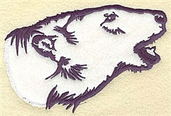Polar Bear Applique embroidery design