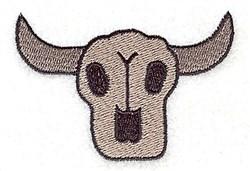 Wild West Steer Skull embroidery design