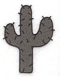 Sagauro Cactus embroidery design