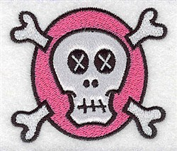 White Skull Applique embroidery design