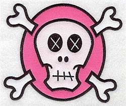 White Skull Applique embroidery design