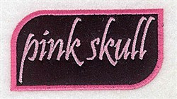 Pink Skull Applique embroidery design