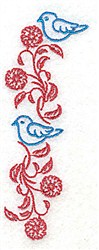 Posies and Bluebirds embroidery design