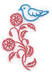 Pretty Bluebird embroidery design