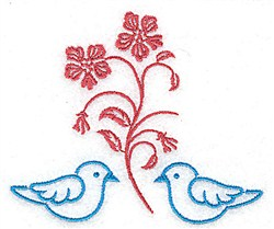 Bluebirds embroidery design