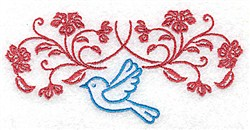 Bluebird & A Vine embroidery design