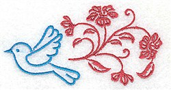 Bird In Flight embroidery design