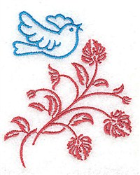 Flying Over Flowers embroidery design