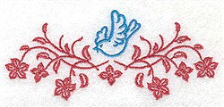 Bluebird Spray embroidery design