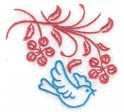 Sweet Little Bluebird embroidery design