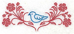 Bluebird In Flowers embroidery design
