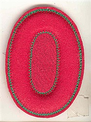 Puffy Felt 0 embroidery design