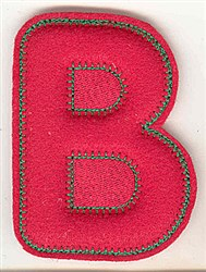 Puffy Felt B embroidery design