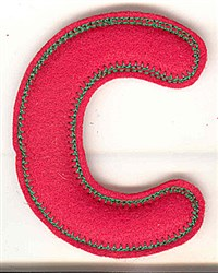 Puffy Felt C embroidery design
