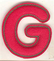 Puffy Felt G embroidery design