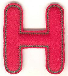 Puffy Felt H embroidery design