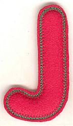 Puffy Felt J embroidery design