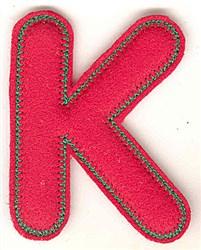 Puffy Felt K embroidery design