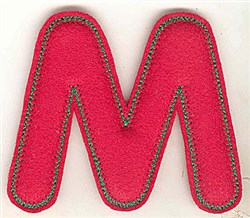 Puffy Felt M embroidery design