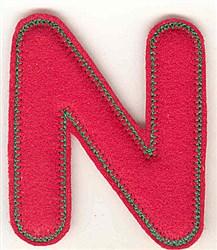 Puffy Felt N embroidery design