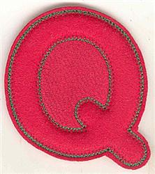 Puffy Felt Q embroidery design