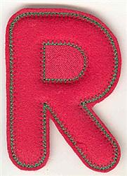 Puffy Felt R embroidery design
