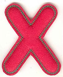 Puffy Felt X embroidery design
