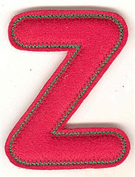 Puffy Felt Z embroidery design