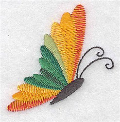 Butterfly Side View embroidery design