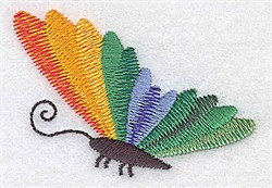 Side View Butterfly embroidery design