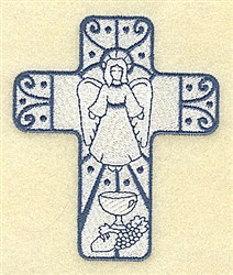 Angel Cross embroidery design
