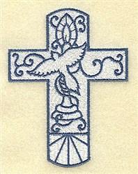 Dove Cross embroidery design