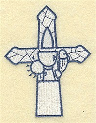 Cross With Chalice embroidery design