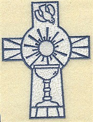 CrossWith Chalice embroidery design