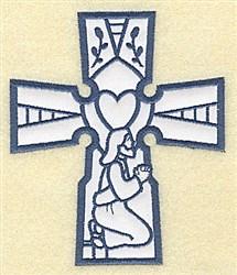 Jesus Cross Applique embroidery design