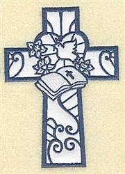Bible Cross Applique embroidery design